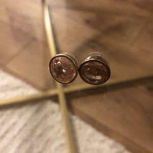 Michael Kors gold crystal cubic zirconium earrings